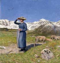 Mezzogiorno sulle Alpi, G. Segantini