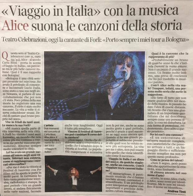 Corriere - Alice - VIAGGIO IN ITALIA - 27.03.19 Bologna
